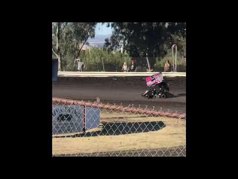 Strange Racing is at the Kyle Larson Showcase at Cycleland Speedway. This is Smokin Samuel doing hot laps in his 250cc Outlaw Cage Kart on 9/3/19. - dirt track racing video image