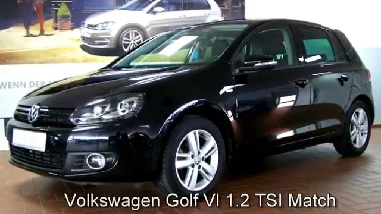 volkswagen golf vi 1 2 tsi match dw084666 deep black perleffekt autohaus czychy youtube. Black Bedroom Furniture Sets. Home Design Ideas