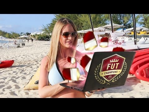 TOP 100 FUT CHAMPS BEACH PACK OPENING IN THE CAYMAN ISLANDS!!