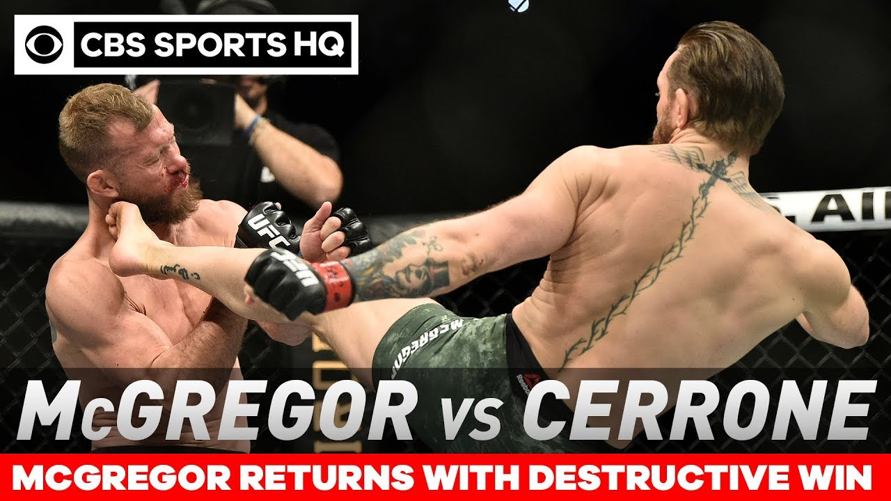 Conor McGregor TKOs Cowboy Cerrone in under a minute in return | Post Match Analysis | CBS Sports HQ