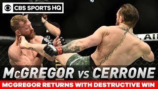 Фото Conor McGregor TKOs Cowboy Cerrone In Under A Minute In Return | Post Match Analysis | CBS Sports HQ