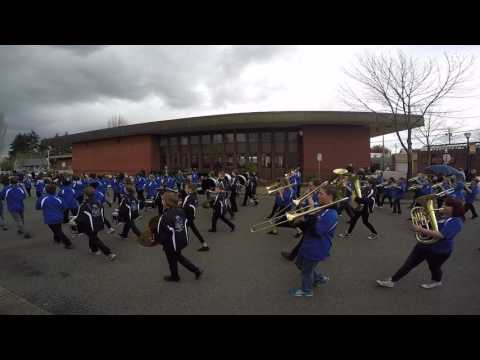 Orting Middle School Marching Band - 2017 Daffodil Parade