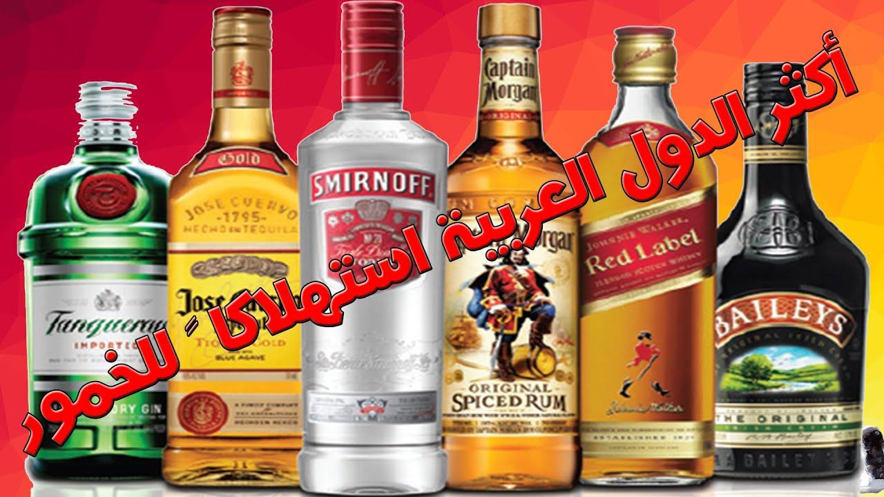 أكثر 10 دول عربية استهلاكا للخمور المشروبات الكحولية Youtube