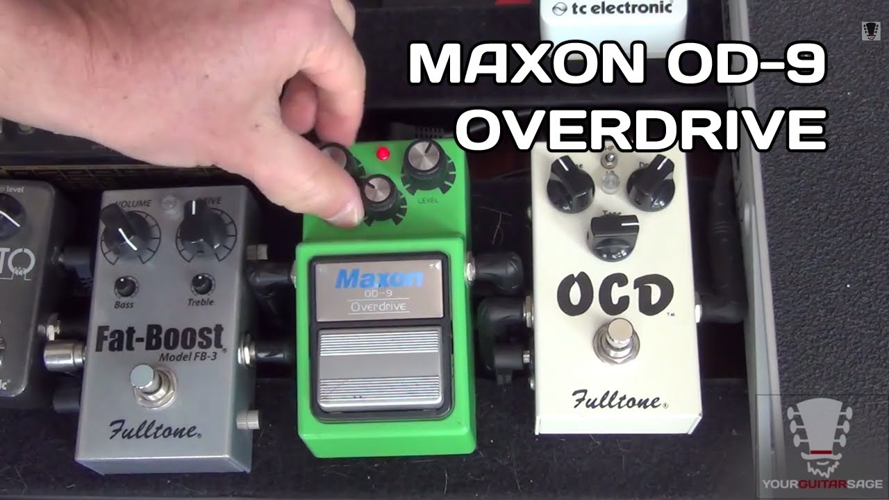 Maxon OD-9 Overdrive Tube Screamer Pedal - Gear Review