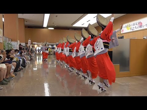 徳島市・阿波踊り 水玉連 阿波銀行本店1階ロビー 2018年 Awa-odori (Awa dance) in Tokushima