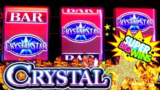 ★BIG WIN★  CRYSTAL STAR Slot Machine ★ JACKPOT WON★   $11.25 Max Bet | 3 Reel Slot Max Bet BIG WIN