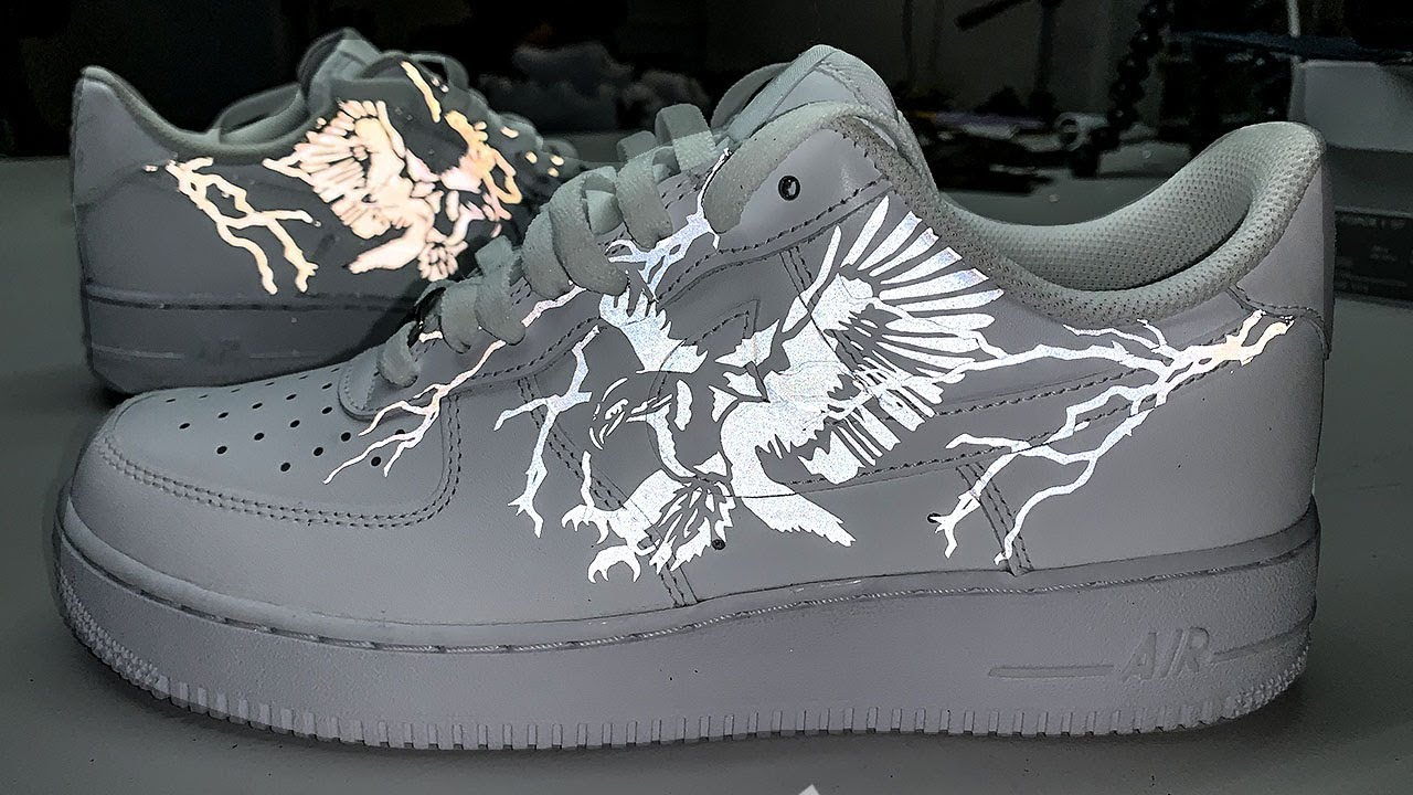Custom 3m Reflective Air Force 1 S Youtube