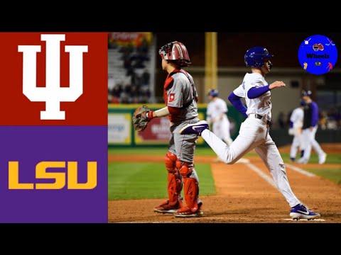 Indiana Vs #12 LSU | 2020 College Baseball Highlights