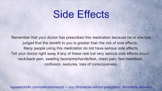 Stromectol (Ivermectin): Uses, Side Effects, Precautions, Interactions, Overdose & Storage