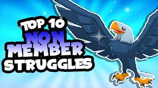 top 10 non member struggles in animal jam