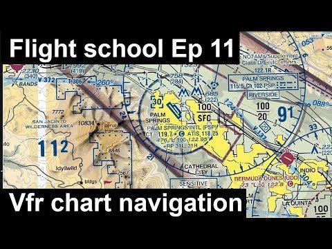 (Old) Flight School   Ep-11: Vfr Chart Navigation   Flight Planning   C172 REP   X-plane 11