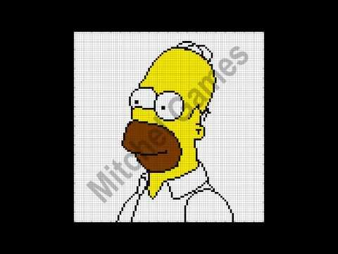 Minecraft - Homer Simpson (100x100 Pixel) (Template)