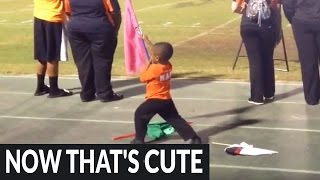 This 3-year-old's halftime performance will melt your heart!