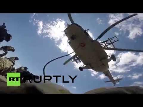 Drone captures anti-terror drills in Armenia