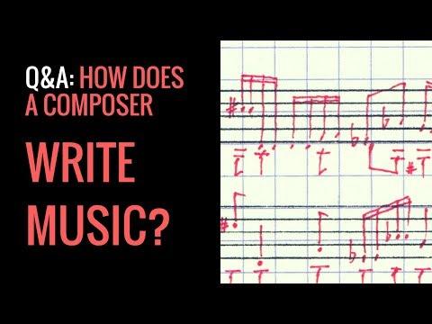 Q&A: How does a composer write music?