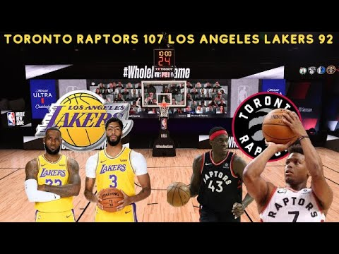 Kyle Lowry is the Hero against the Los Angeles Lakers