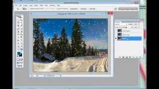 Как сделать падающий снег в Фотошоп