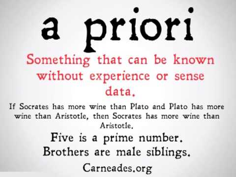 A Priori And A Posteriori Distinction (90 Second Philosophy)   YouTube