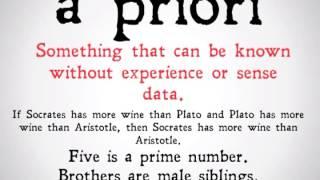 A Priori and A Posteriori Distinction (90 Second Philosophy)