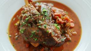 Recipe at: http://themeatmen.sg/braised-lamb-shank/ Falling off the...
