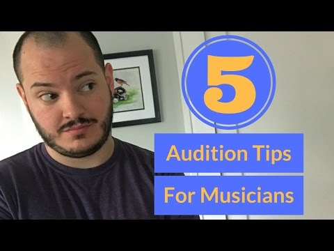 5 Audition Tips for Musicians (Aaron K. Campbell)