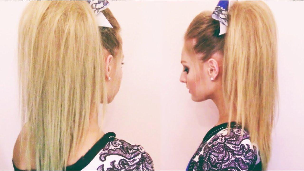 cheer hair tutorial