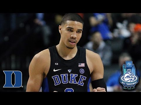 Duke's Jayson Tatum Dunks On UNC Again, This Time In ACC Tourney