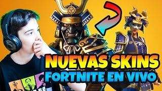 BUYING NEW SKIN LEGENDARY FROM FORTNITE MUSHA AND HIME LIVE WITH HUGOMARKER