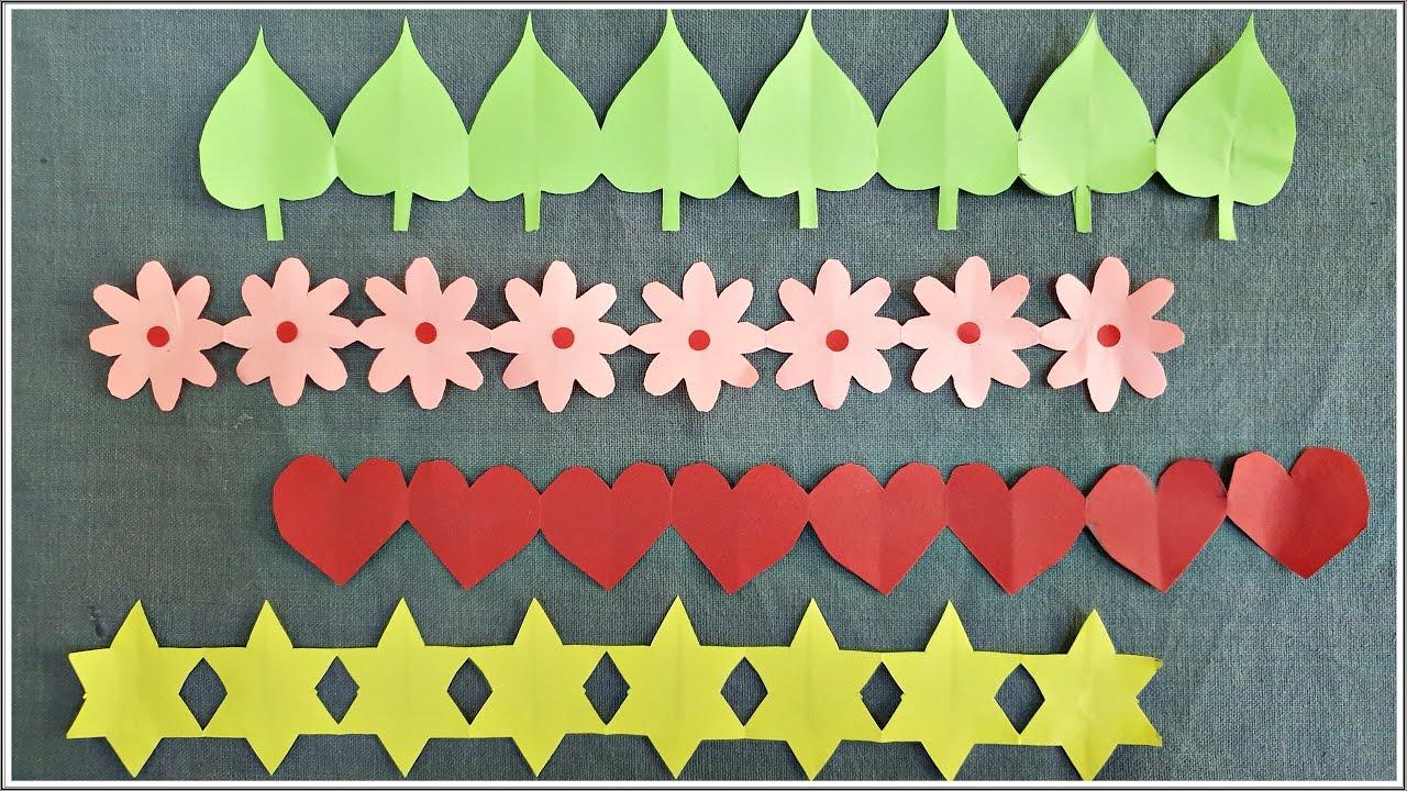 Easy decorative paper chain ideas      DIY Paper cutting decorations      Bulletin board borders