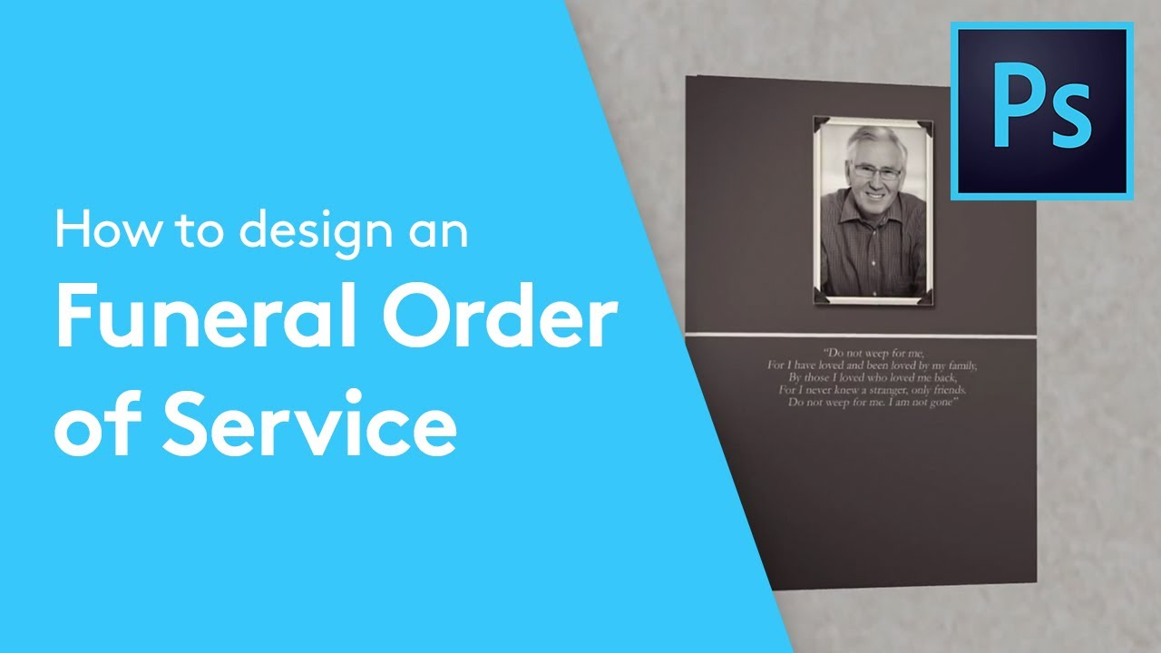 How To Design A Funeral Order Of Service Booklet In Adobe Photoshop |  Solopress Tutorial   YouTube  Order Of Service Template Free