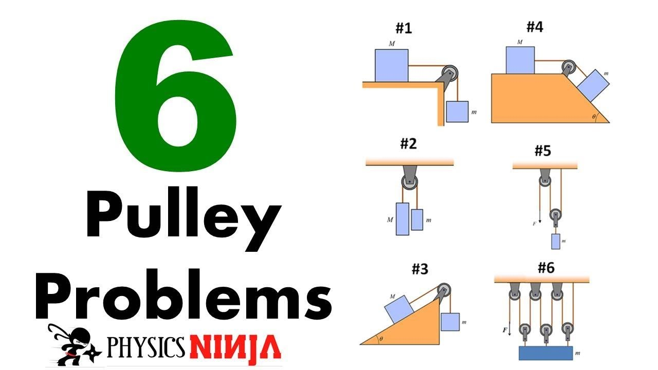 6 Pulley Problems