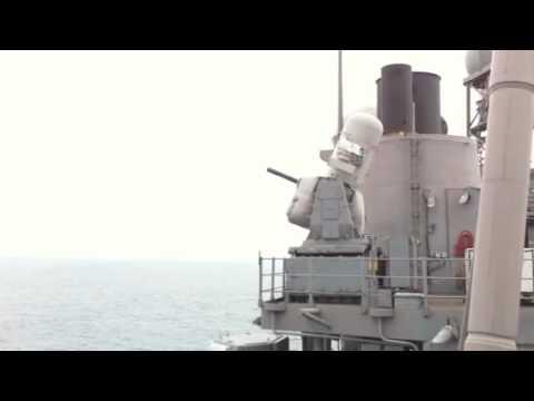 CIWS Live Fire on USS Lake Champlain