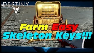 How To Farm Easy Skeleton Keys For High Light Artifacts! Destiny  Best Skeleton Key Farming Guide!