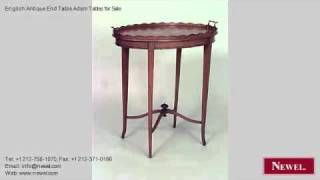 English Antique End Table Adam Tables For Sale