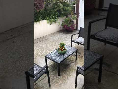 Unusual Hail Barrage in San Leandro Ca.