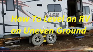 How to level an RV on uneven ground - Off road camping