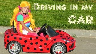 Driving in My Car Kids Song Nursery Rhymes Video about Kids Cars from Funny Sofia Show