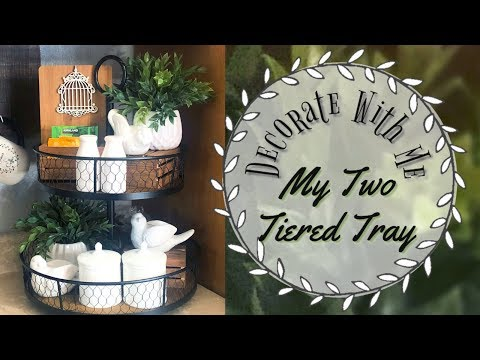 Decorate with Me My Coffee Bar | Two Tiered Tray Decor