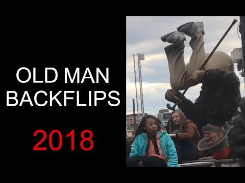 Old Man Backflips Baltimore
