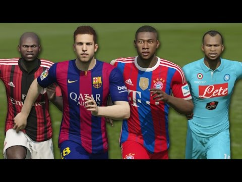 Fastest Left Backs in FIFA 15 | Speed Test