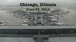 China Airlines Touches Down In Grass at O'Hare (June, 2018)