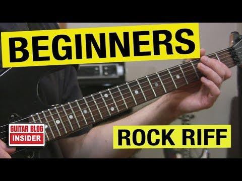 Complete Beginner's - Rock Riff Lesson (FREE Tab & JamTrack)