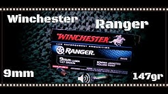 Winchester Ranger 9mm 147gr Bonded Jacketed Hollow Point Ballistic Gel Test (HD)