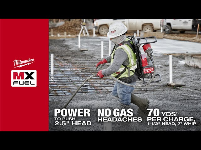 Milwaukee® MX FUEL™ Backpack Concrete Vibrator