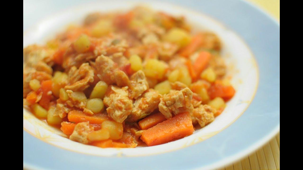 Spezzatino di soia con carote - YouTube