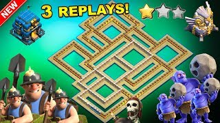 💥3 REPLAYS!💥NEW TH12 WAR BASE 2018 ANTI 2 STAR Anti Everything BoWitch,Miner,Anti Queen Walk,Hog