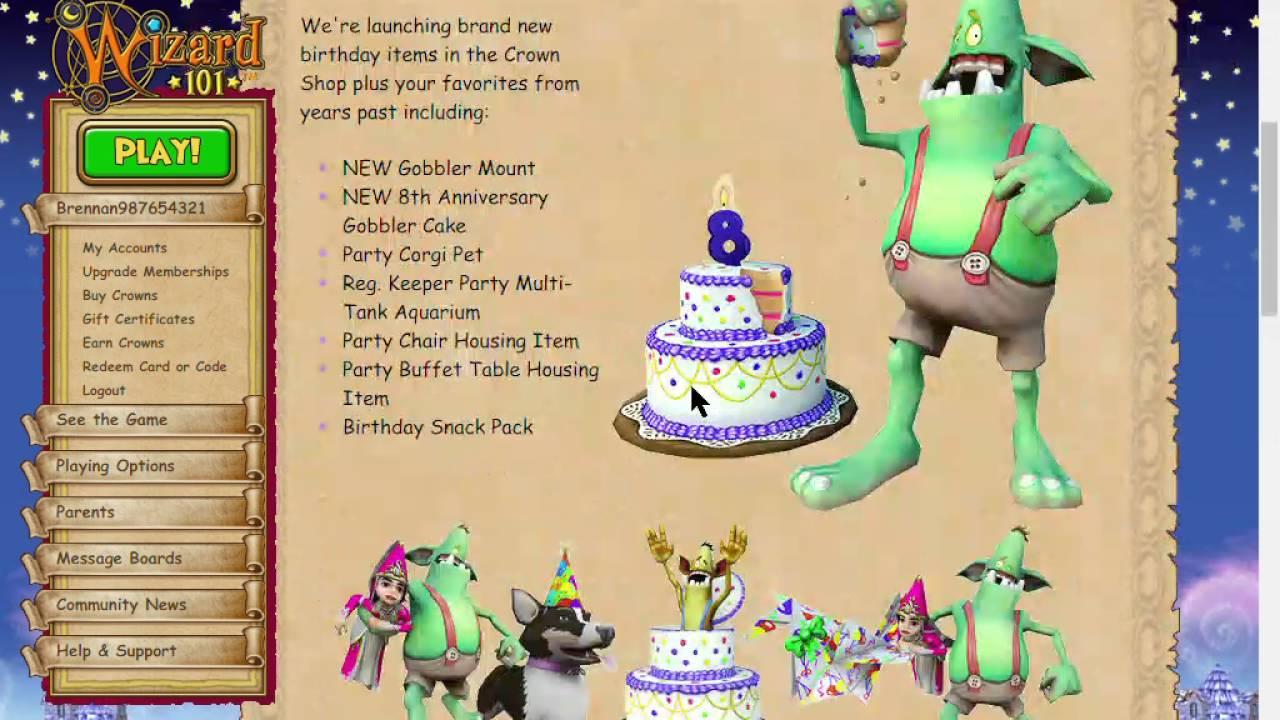 Wizard101 8th Birthday Celebration Youtube