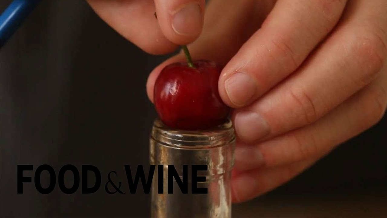 How to Pit Cherries with Chopsticks | Mad Genius Tips | Food & Wine