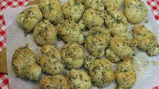 Pizza Dough Garlic Knots ~ Garlic Knots Recipe ~ Pizzeria Style Garlic Knots ~  Noreen's Kitchen