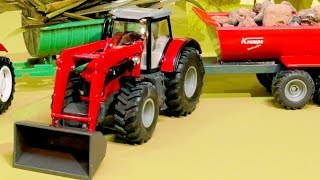 СБОРНИК: Истории Машинок Трактор, Грузовик, Кран на стройке - Развивающие видео для детей